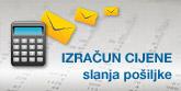 Izračunajte cijenu slanja pošiljaka online