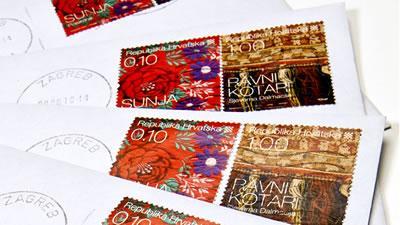 pošta - žigosana  pisma