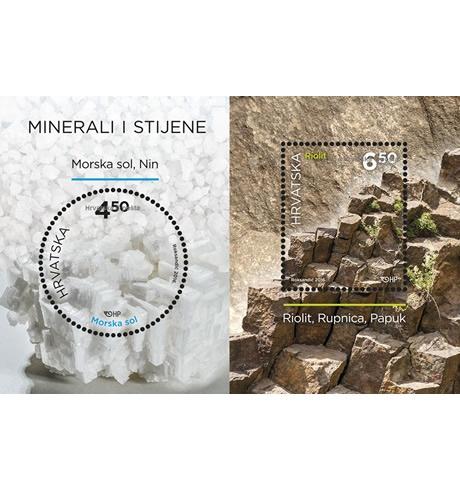 Sol i vulkanske stijene na poštanskim markama