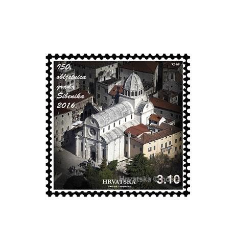 Prigodna poštanska marka za 950. obljetnicu grada Šibenika