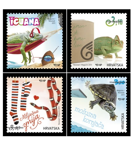 Egzotični kućni ljubimci na poštanskim markama