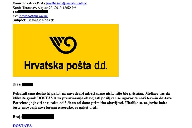 Hrvatska Posta Oprez Lazna Elektronicka Posta