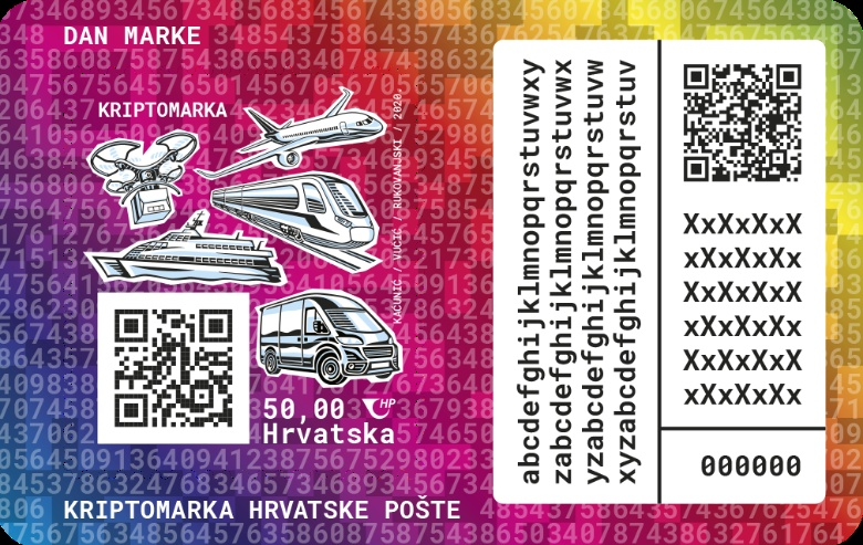 The first Croatian crypto stamp - a combination of philately and modern technology