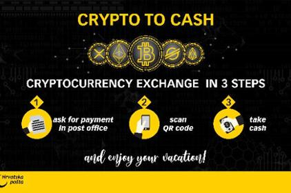 Exchange cryptocurrencies in post offices in Zadar